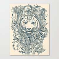 Canvas Print featuring Tiger Tangle by micklyn