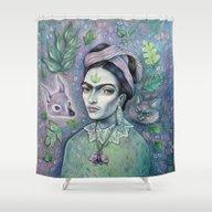 Magical Girl Frida Shower Curtain