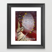 Patriotic Statue Of Libe… Framed Art Print