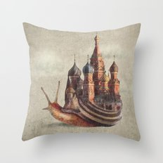 The Snail's Daydream Throw Pillow