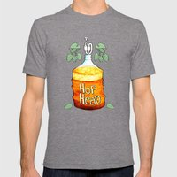 Hop Head Mens Fitted Tee Tri-Grey SMALL
