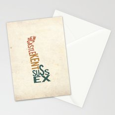 Delaware by County Stationery Cards