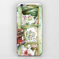 Alice's Teapots iPhone & iPod Skin