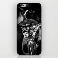 Christmas Bike B&W iPhone & iPod Skin