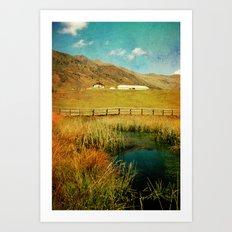 Alpe Nemes in South Tyrol Art Print