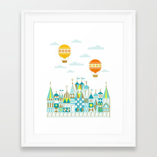 Small Magic white Framed Art Print