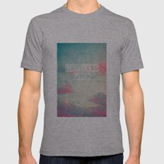 limitless mind Mens Fitted Tee Athletic Grey SMALL