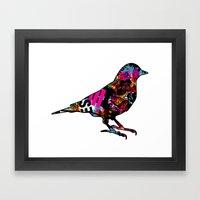 90s bird Framed Art Print
