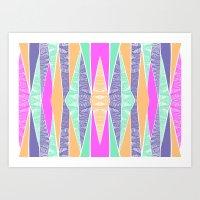 Pastel Tribal Art Print