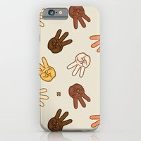 iPhone & iPod Case featuring Hiii Power hand sign (remix)  by yumgsta