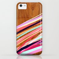 Wooden Waves Coral iPhone 5c Slim Case