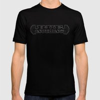RUE NOTHING WEIGHTS GRAY Mens Fitted Tee Black SMALL
