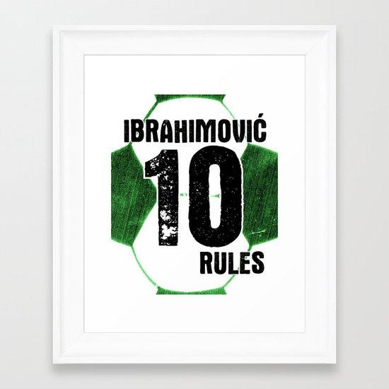 Ibrahimovic 10 Rules Framed Art Print