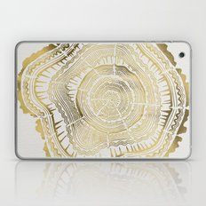 Gold Tree Rings Laptop & iPad Skin