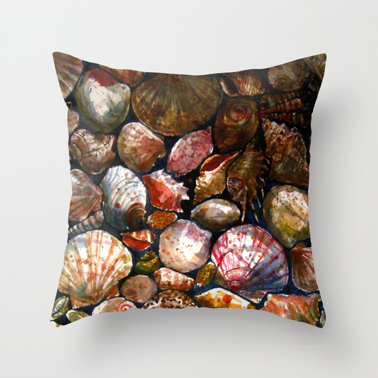 Shell 1 Throw Pillow