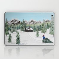 Christmas on the mountain Laptop & iPad Skin