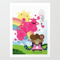 Cotton Candy can save the world!!! Art Print