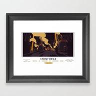 Ironforge Classic Rail P… Framed Art Print