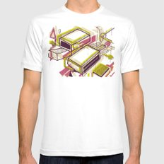 Matchbox White Mens Fitted Tee SMALL