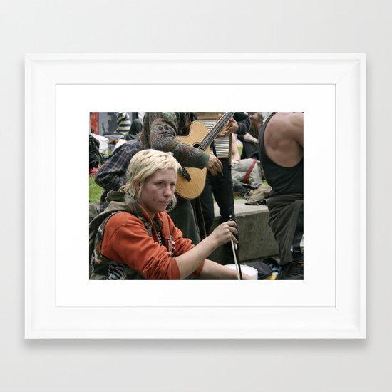 Girl w/ nose ring Framed Art Print