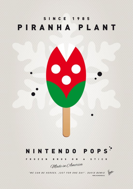 My NINTENDO ICE POP - Piranha Plant Canvas Print