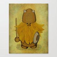 Hirsute Viking Homunculu… Canvas Print