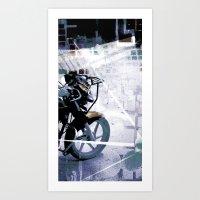 Retrollage 6.. Art Print