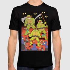TURTLES FIGHTERS - REVENGE Mens Fitted Tee Black SMALL