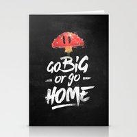 Go Big Or Go Home Mario … Stationery Cards