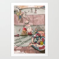 Bath House 1 Art Print