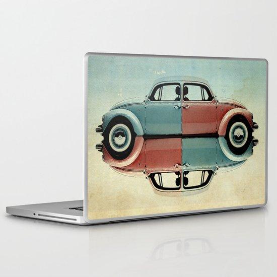 checkered bug - VW beetle Laptop & iPad Skin
