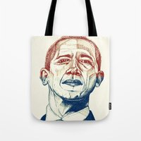 Red, White And Obama Tote Bag