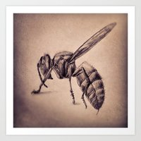 bee Art Prints featuring Bee by Werk of Art