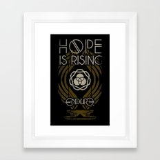 HOPE IS RISING Framed Art Print