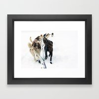 Gee!  Haw! Framed Art Print