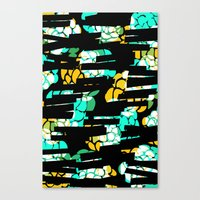 Flowery dashes Canvas Print