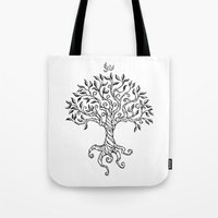 Shirley's Tree BW Tote Bag