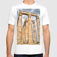 Temple Of Zues Mens Fitted Tee White SMALL