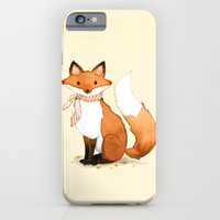 iPhone & iPod Case featuring Fox . watercolor painting by joojoo