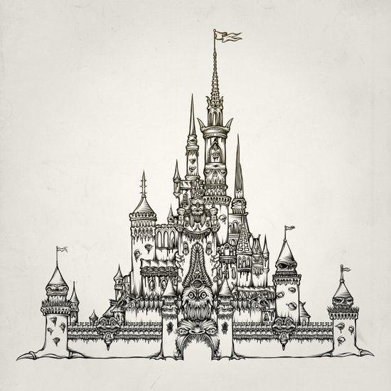 Castle of Dreams s/w Art Print