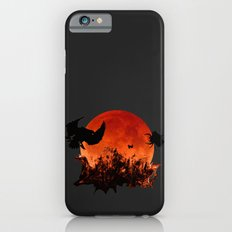 Spooky Halloween Blood Moon Screaming Birds And Spider Slim Case iPhone 6s