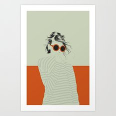 Woman Color 10 Art Print