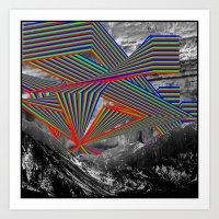 Sky And Mountains Art Print