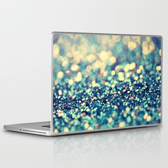 Blue and Silver - an abstract photograph Laptop & iPad Skin
