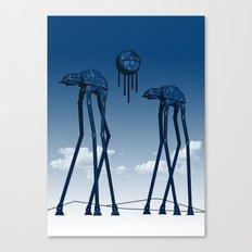 Dali's Mechanical Elephants - Blue Sky Canvas Print