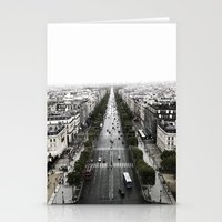 The Avenue Des Champs-El… Stationery Cards
