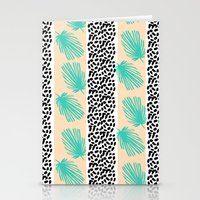Palm Leaf Abstract Stationery Cards