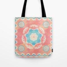 Vintage Floral Fantasy Tote Bag