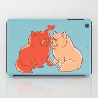 Cat Kisses iPad Case
