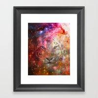 Galactic Tiger  Framed Art Print